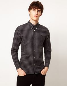 Fred Perry Laurel Wreath Gingham Button Down Shirt
