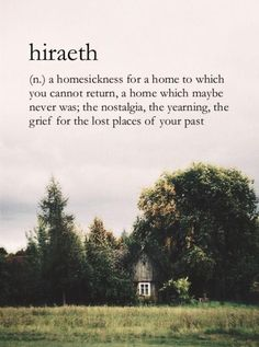 hiraeth definition - Tìm với Google