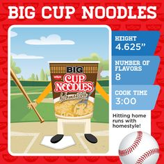 Big Cup Noodles is our all-star player! Which Nissin noodle makes your lunch line-up?