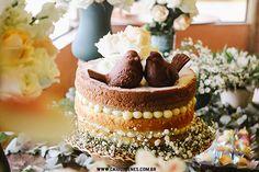 Naked cake para mesa de casamento