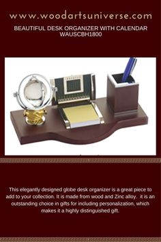 Beautiful Desk Organizer With Calendar