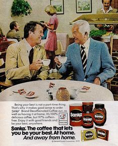 Robert Young, a.k.a. Marcus Welby, in a 1979 ad for Sanka coffee