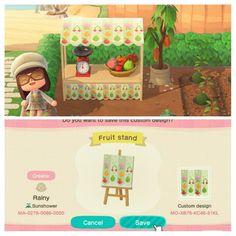 Animal Crossing Wild World, Animal Crossing Game, Fruit Stall, Stall Signs, Moss Plant, Nintendo, Motifs Animal, Big Animals, Island Design
