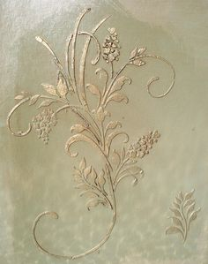 Raised Plaster Fleurs D' Amour Stencil by VictoriaLarsenDecor, $28.99