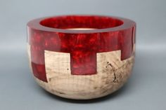 Handcrafted Turned & Carved Wooden Bowl made from by Colemancrafts