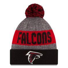 Men's Atlanta Falcons New Era Heather Gray 2016 Sideline Official Sport Knit Hat