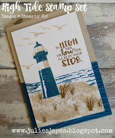 Julie Kettlewell - Stampin Up UK Independent Demonstrator - Order products 24/7: Another High Tide
