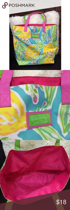 Lilly Pulitzer Beach Bag Lilly Pulitzer beach tote! New without tags! 15 in. X 16 in. 💗 Lilly Pulitzer Bags Totes
