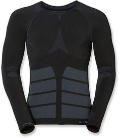 Odlo Male Evo Warm Crew Long Underwear Top - Men's