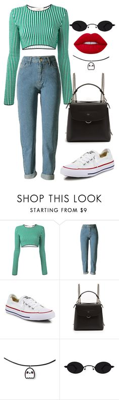 """""""Untitled #1335"""" by mygenuca ❤ liked on Polyvore featuring Ports 1961, Converse, Fendi and Lime Crime"""