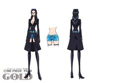 Nico Robin [One Piece Film Gold] Character Design Black Anime One Piece, One Piece Nami, Nico Robin, One Piece Film Gold, Costume Original, Gold Movie, News Anime, Susanoo Naruto, One Piece Pictures