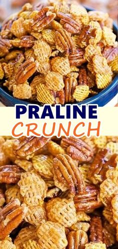 Don't forget to Pin this so it will be SAVED to your timeline! Praline Crunch Snack Mix is the perfect balance of salty, sweet, and crunchy! Not to mention (warning) it's extremely addictive. Snack Mix Recipes, Ww Recipes, Yummy Snacks, Appetizer Recipes, Healthy Snacks, Healthy Eating, Cooking Recipes, Healthy Recipes, Appetizers