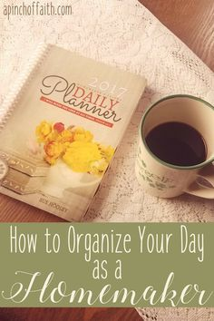 One of the most important things you can do as a homemaker, is to have a schedule or routine put in place in order to help you best manage your time. Because if you don't manage your time well, then the rest of your home will suffer because of it.