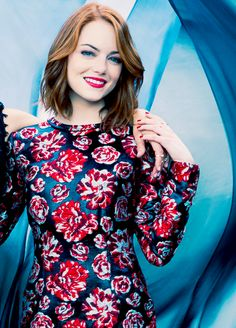 """Emma Stone for The Hollywood Reporter top stylist (April 2015)"""