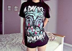 girl shirt a day to remember posted ADTR merch band merch t shirt ...