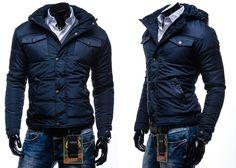 KAMLIN 3B72 - GRANATOWY Granatowy | On \ Kurtki męskie \ Kurtki zimowe Sale% | Denley - Odzieżowy Sklep internetowy | Odzież | Ubrania | Płaszcze | Kurtki