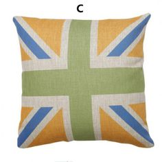 British flag pillow for home decoration couch cushions 18 inch