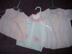 Vintage Infant Dress and Two Diaper Shirts