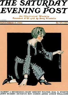 Coles Phillips - Saturday Evening Post cover (November 17, 1923) Fadeaway girl