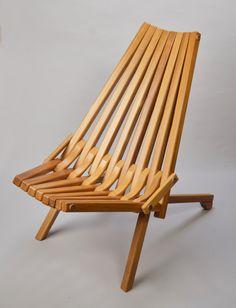 Livingroom decorative chair Gorgeous Mid century danish modern Teak wood folding chair