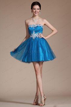 2014 New Blue Strapless Lace Appliques Cocktail Dress/ Party Dress (C04140405) #edressit #fashion #dresses #eveningdresses #straplessgowns #partydresses #cocktaildresses #daydresses