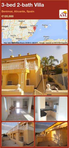 3-bed 2-bath Villa in Benimar, Alicante, Spain ►€120,000 #PropertyForSaleInSpain