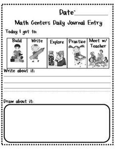 math centers...