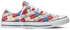 The Converse Chuck Taylor All Star Andy Warhol Collection Converse All Star, Converse Chuck Taylor All Star, Chuck Taylor Sneakers, Converse Shoes, Chuck Taylors, Andy Warhol Art, Sock Shoes, Women's Shoes, Sneakers Fashion