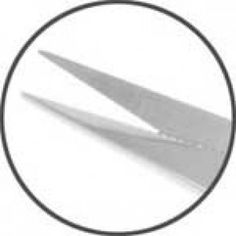 Tesoura Goldman Fox 13cm curva corte serrilhado Periodontia