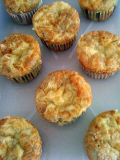Muffins de bacon y champiñones