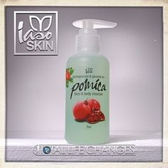 Iaso Pomica Daily Face Wash with Pomegranate, vitamins A,C,E, and Ganoderma 5 OZ