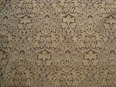 """Fine Quality 54"""" Upholstery Fabric Verde AND Gold ON DK Chocolate BY THE Yard 