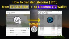 How to transfer Litecoin from Telegram LTC Bot to Electrum-LTC wallet tutorial Bitcoin Bot, Bitcoin Wallet, Electrum, Wallet Tutorial, Problem Solving, Coding, Tutorials, Ideas