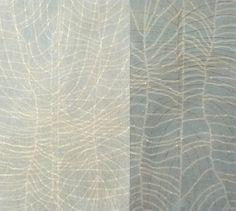 annsymes:Ann Symes. Growth - Japanese woodblock print - watercolour and gouache paints. 55cm x 61cm