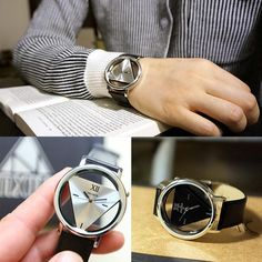 High Quility Unisex Women Men Leather Watches Quartz Stainless Steel Analog Sport Wrist Watch