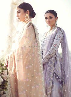 Farah Talib Aziz Bridal Collection 2018 – Niftilicious Bridal Anarkali Suits, Pakistani Wedding Dresses, Peplum Shirts, Indian Bridal, Beautiful Eyes, Bridal Collection, Dress Making, Lehenga, Ready To Wear