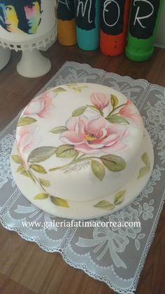 Cake, Plates, Tableware, Desserts, Food, Hand Painted Cakes, Brazil, Artists, Licence Plates