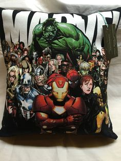 A personal favorite from my Etsy shop https://www.etsy.com/listing/384998780/superheroes-t-shirt-pillow-16x16
