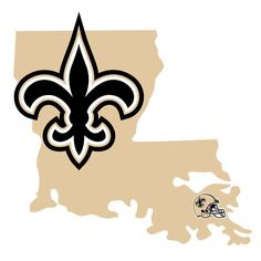 It's a home state decal with a sporty twist! This New Orleans Saints decal feature the team logo over a silhouette of the state in team colors and a heart marking the home of the team. The decal is approximately 5 inches on repositionable vinyl. New Orleans State, New Orleans Saints, Louisiana Tattoo, A Team, Team Logo, Let's Go Dodgers, Nba Merchandise, Saints Football, Peel And Stick Vinyl