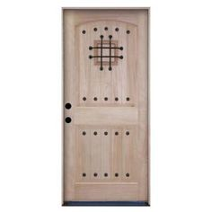 Steves & Sons Rustic 2-Panel Plank Unfinished Mahogany Wood Entry Door with Speakeasy-2283SEURI at The Home Depot    $718.00    This door looks slightly unfinished. I wonder if that means we are supposed to paint it?