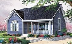 Bungalow House Plan with 1113 Square Feet and 2 Bedrooms from Dream Home Source . Bungalow House Plan mit 1113 Quadratmetern und 2 Schlafzimmern von Dream Home Source Cottage Floor Plans, Cottage Style House Plans, Bungalow House Plans, Cottage House Plans, Country House Plans, Cottage Homes, House Floor Plans, Bungalow Homes, Ranch Style Homes