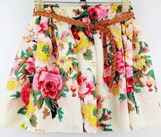 Cheap womens floral skirts, Buy Quality floral skirt directly from China fashion skirt Suppliers: Brasil Popular Womens Floral Skirts Style Casual Skirt Fashion Chiffon Cute Mini Flower Shorts Skirt without belt Women's Fashion Dresses, Skirt Fashion, New Fashion, Korean Fashion, Womens Fashion, Pleated Shorts, Chiffon Skirt, Chiffon Dresses, Korean Women