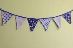 Bandeirinha de tecido azul para alegrar qualquer lugar!