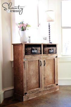 by Ana White | Build a Shanty Open Shelf Console | Free and Easy DIY Project and Furniture Plans