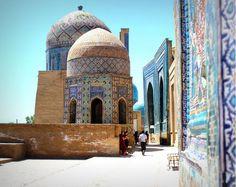 El azul de la Ruta de la Seda Uzbekistán