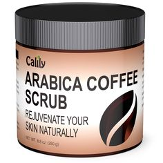 Calily Premium 100% Natural Arabica Coffee Scrub 8.8 Oz. - Achieve Smooth and Firm Skin - Deep Hydrating, Exfoliating and Cleansing - Helps Against Wrinkles, Cellulite, Stretch Marks, etc.. #Calily, #Cellulite, #Etc, #StretchMarks #HowtoCureAcne, #SkinCare Calily™ Premium 100% Natural Arabica Coffee Scrub 8.8 Oz. The Calily™ Arabica Coffee Scrub is produced with the finest high-potent organic Arabica Kona Coffee, utilizing advanced processing techniques to ensure it atta