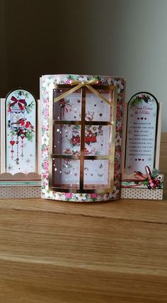 I Love how Hunky-dory is so unique Christmas Cards To Make, Xmas Cards, Handmade Christmas, 3d Cards, Pop Up Cards, Tattered Lace Cards, Hunky Dory, Step Cards, Window Cards