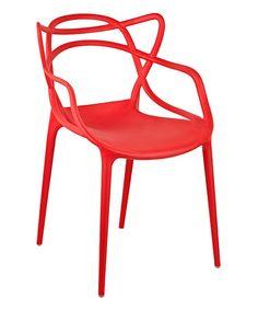 Look at this #zulilyfind! Red Gabriel Stackable Accent Chair - Set of Two #zulilyfinds