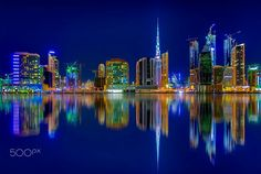 ~ Happy b Hour ~ - Happy blue hour (or blue moment) from Dubai! One of my favorite time for shots! Focused on one point of image to create special effect. I hope you like it! Have a nice day! Greetings!