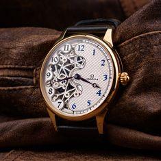 Custom Omega - vintage skeletonized swiss wristwatch – Patina Original Mens Skeleton Watch, Vintage Omega, Custom Leather, You Bag, Omega Watch, Watches, Unisex, The Originals, Accessories